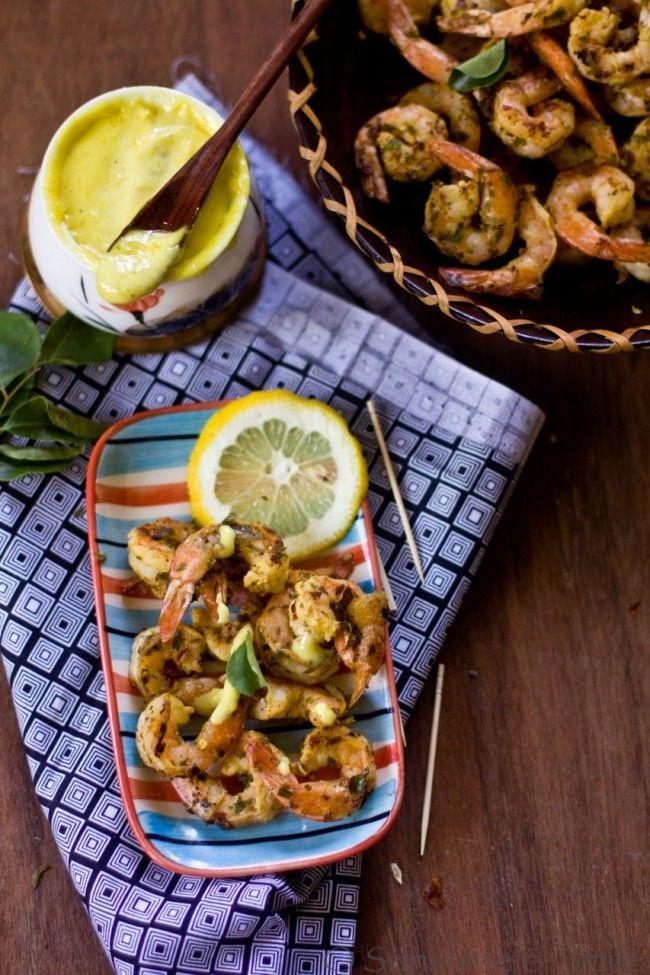 From Sunshine and Smile: Stir Fried Shrimp with Lemon Aioli