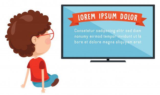 Ilustracion De Vector De Nino Viendo Television Ilustraciones