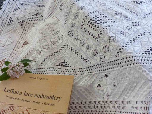 Lefkara Lace embroidery ~ article 1 of 7 with many more beautiful photos and description of history of technique ~ by Yolande of Fils et Aiguilles ...une Passion