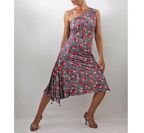 Tango Vestido de un hombro y lateral hendidura jersey diseño