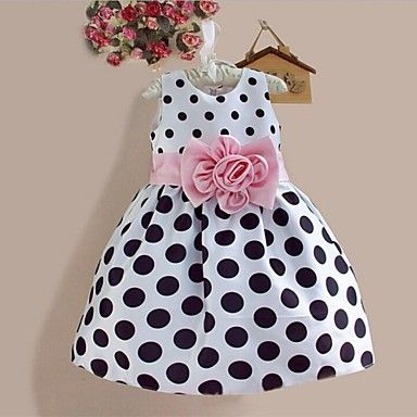 Girl's Doll Collar Princess Dress - MXN $ 254.82