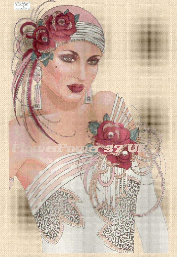 Cross stitch chart Art Deco Lady - No 97
