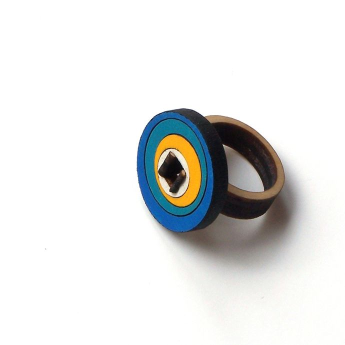 Stylish wooden ring - model 2/2 by ardeola, 20USD - http://ardeola.hu/index.php/products-menu?view=project&id=19:wooden-ring-model-2