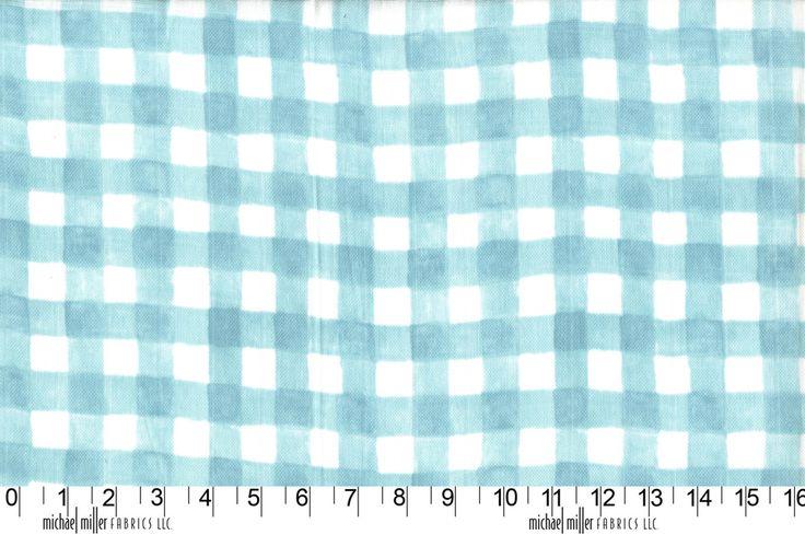 Mini Printed Gingham MMDZ7063MIST http://www.eqsuk.com/products/fabrics/designer-fabrics/b/michael-miller/michael-miller-double-gauze/7636 www.eqsuk.com/stockist #MMF #EQS