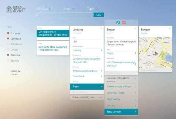 Bergen Offentlige Bibliotek Web Database Interface by Americo Ferreira, via Behance