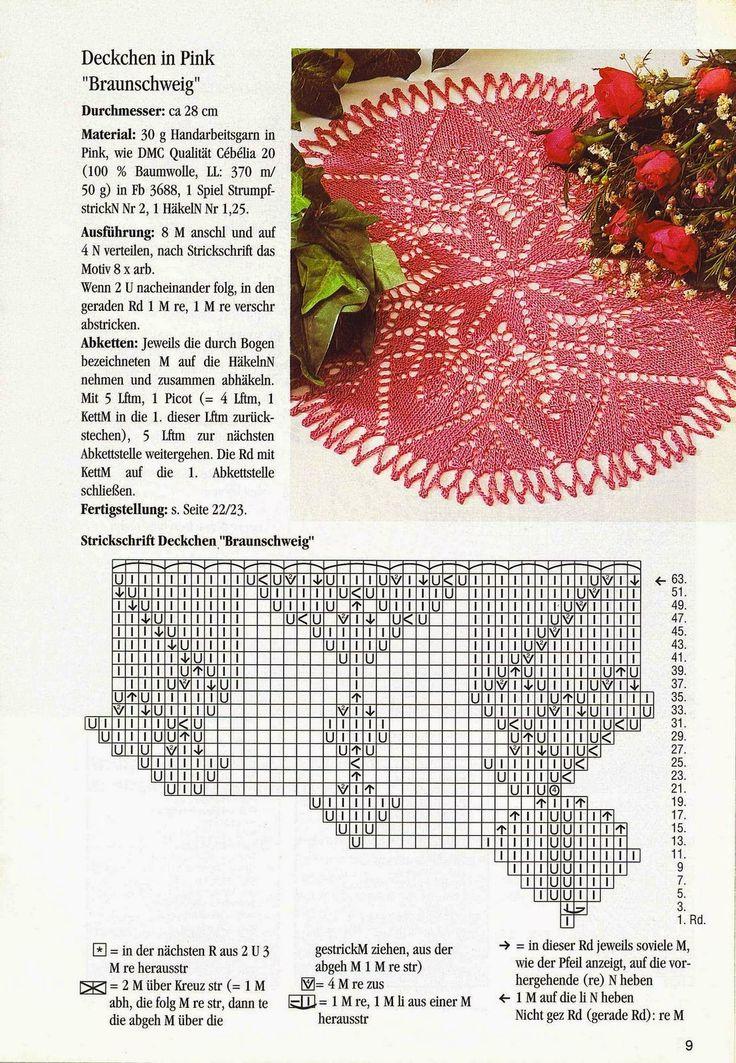 Kira knitting: Scheme knitted tablecloths 4