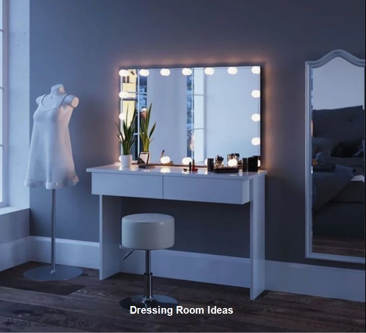 Dressing Table Mirror, Led Mirror Dressing Table And Stool