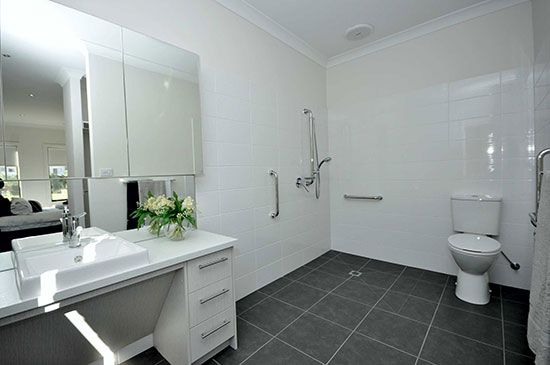 The modified bathroom in Sepal Drive. Picture: Accessible Homes