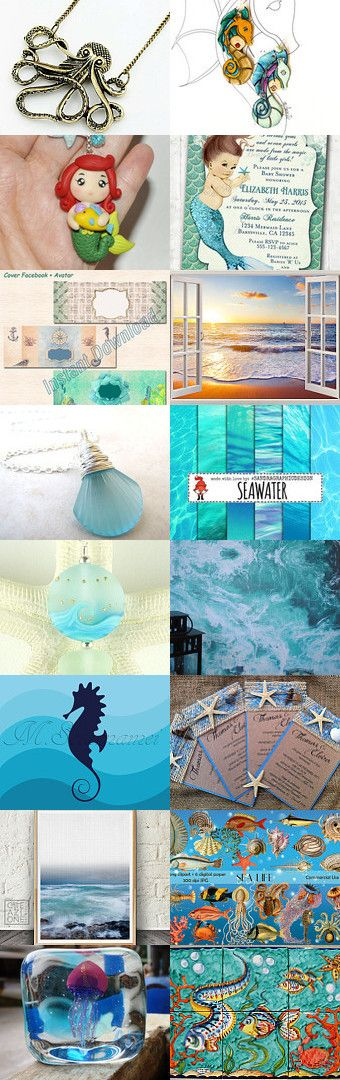 *** SEA *** by Miss Style on Etsy--Pinned+with+TreasuryPin.com