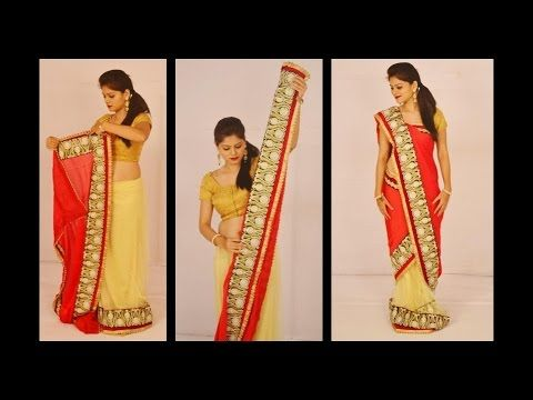 How to drape Saree  Mermaid Style - YouTube