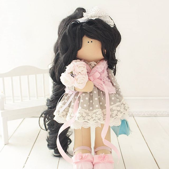 Куколка 44 см (повтор) выполнена на заказ!  #интерьернаякукла #коллекционнаякукла #ручнаяработа #кукла#рукоделие#bernina#doll#toys