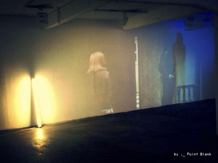 ._ Work in progress. #aw15/16 #pointblank #ptblnk #._ #showcase #fashion #show #film #workinprogress #space #light #shadow #pillars #projection #mood #atmospheric