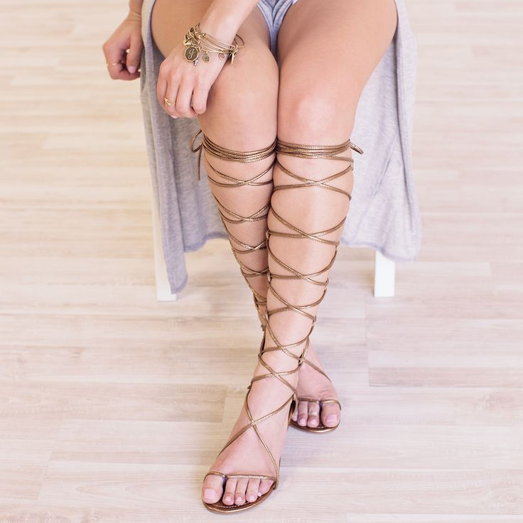 Never let these leave your side! These Just Stay Gladiator Sandals feature a faux leather material with a toe strap and a lace-up design that crisscrosses up the leg for a customized fit. Open-toe des