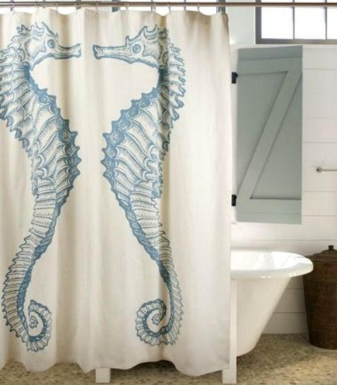 Seahorse shower curtain: http://www.completely-coastal.com/2016/01/coastal-beach-shower-curtains.html