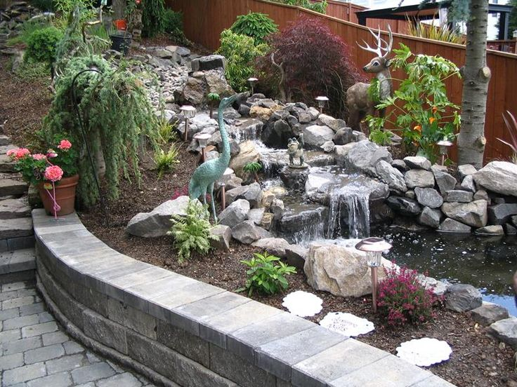 Marvelous Best 25+ Outdoor Waterfalls Ideas On Pinterest | Backyard Water Fountains,  Small Garden Ponds And Lighting For Gardens Awesome Design