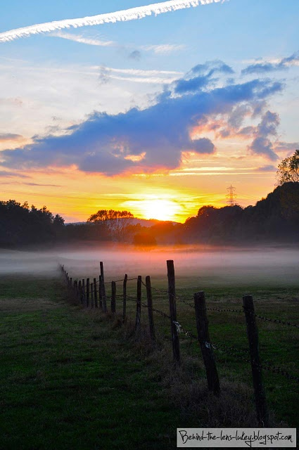 Misty Paddock Sunset - Palidoro Italy. I absolutely love beautiful sunrises/sunsets and want to experience as many from exotic places as I can.  Hawaii will soon be checked off my list!