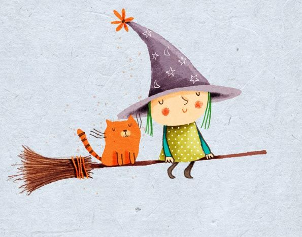 little witch, cat, cally jane studio