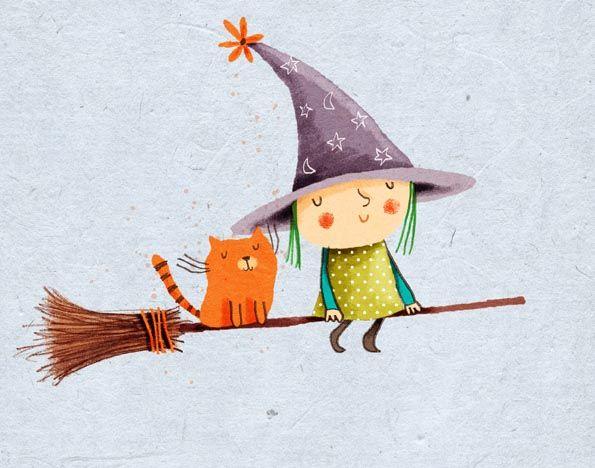 little witch, cat, cally jane studio