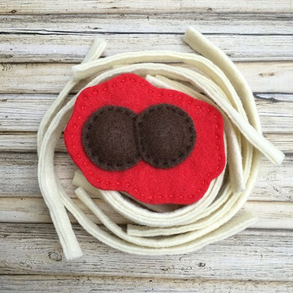 felt food spaghetti felt pasta set play kitchen food set