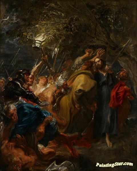 The betrayal of christ Artwork by Anthony van Dyck Hand-painted and Art Prints on canvas for sale,you can custom the size and frame