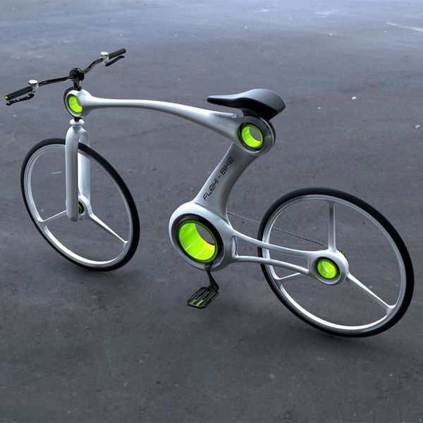 Flexi-Bike by Hoon Yoon - Sporting an informative LED display, the bike is quite whimsical in its style and approach. Read more at http://www.yankodesign.com/2013/10/17/the-joy-of-biking/#53F1ezszVDTbq8Lw.99