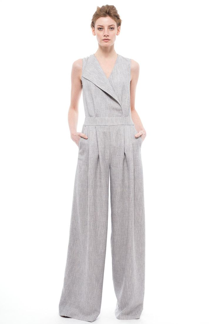 Wrap-Effect Jumpsuit