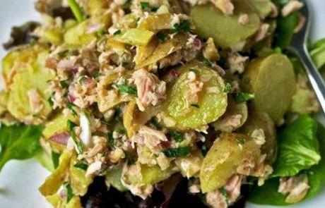 Σαλάτα τόνου με πατάτες και μυρωδικά   Cretan Food News
