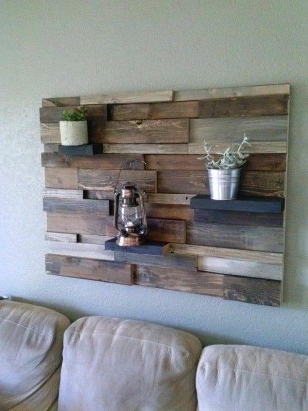 fixer palette en bois sur le mur meuble pinterest revetement bar et bois. Black Bedroom Furniture Sets. Home Design Ideas