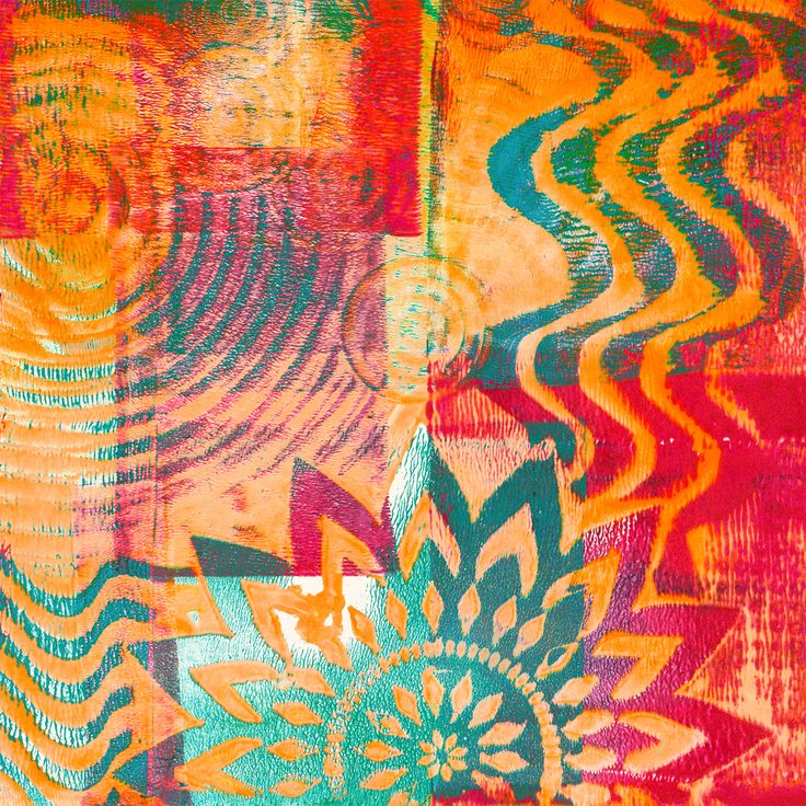 Thick and Thin Gelli® Printing Watch what happens when you roll a layer of thick paint over a thin one... for a unique way to create a layered multicolor Gelli® print in one pull! If you're fascinated with unpredictable paint interactions — you'll want to explore this FUN technique!