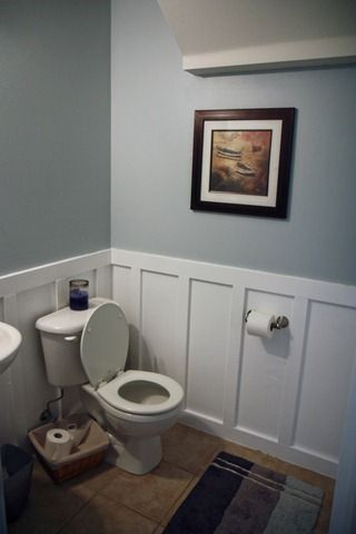 Behr S Light French Gray Bathroom Paint Colors Room Paint Dining Room Wainscoting