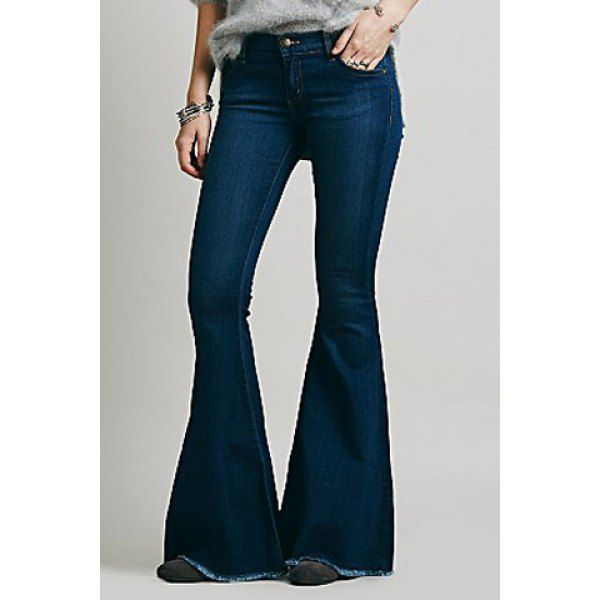 $21.77 Vintage Low-Waisted Loose-Fitting Women's Bell Bottom Jeans