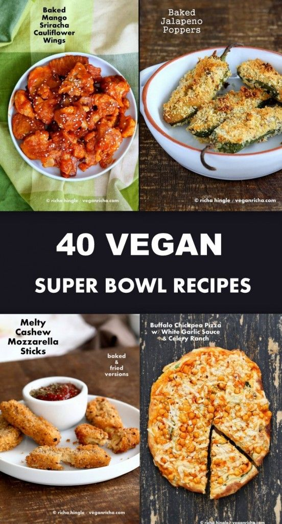 40 Vegan Super Bowl Recipes. Appetizers, Dips, cauliflower wings, potato boats! Gameday Appetizers Superbowl Snacks. Vegan Party Appetizers Super Bowl food