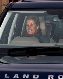 About the British Royals:  The Countess of Wessex arrives for the Queen's pre-Christmas Lunch