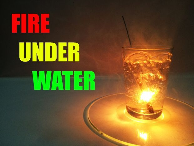 DIY How To Make Fire Under Water !! Making Fire Under Water Seems To Be Impossible But With Sparklers Its No Longer Impossible . It Sounds Crazy But Its True You Can Make Fire Under Water At Home . Try It , Its A Very Cool Experiment. Great for decorations, expirements with kids and more! #diy #decorations #kids