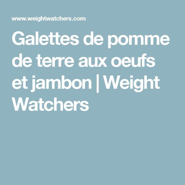Galettes de pomme de terre aux oeufs et jambon | Weight Watchers