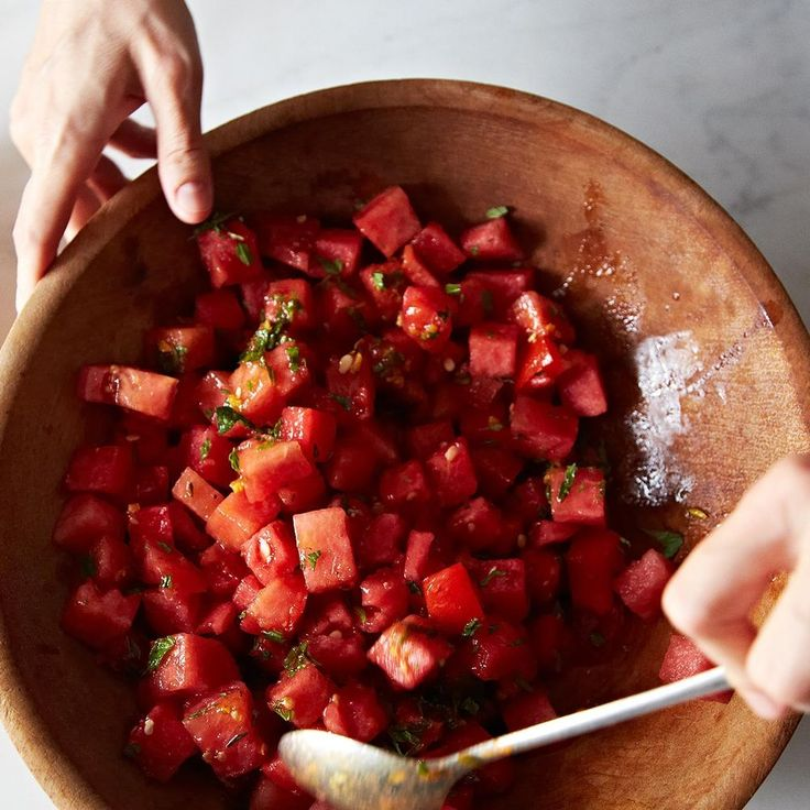 Watermelon Tomato Salad with Cumin and Fennel recipe on Food52