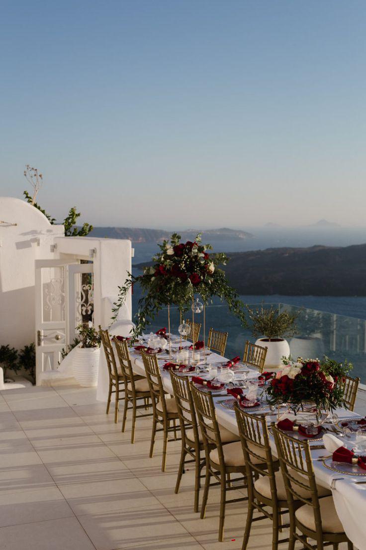Destination wedding in Santorini island, Greece. Wedding planning and floras: Elite Events Santorini