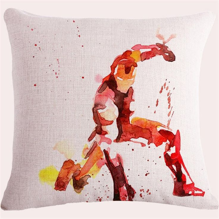 Iron Man. Jimmy Oll Yang used to work in a factory creating boring beige pillow cases. When the Avengers came and liberated his country he was so grateful that he dedicated his life's work to thanking them. He vowed to never again create another boring pillow case. This is what he has been creating since. Proudly show your support to Jimmy and prove that freedom always wins.