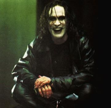 Brandon Lee and The Crow. Reminds me of my first love. Met on Halloween dress up day freshman year, he looked so much like him.