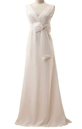 GEORGE DESIGN Sexy V Neck Chiffon Bowknot Evening Dress Size 2 Ivory GEORGE BRIDE,http://www.amazon.com/dp/B00CCXAF76/ref=cm_sw_r_pi_dp_p6Gqtb08KW6FKMSZ