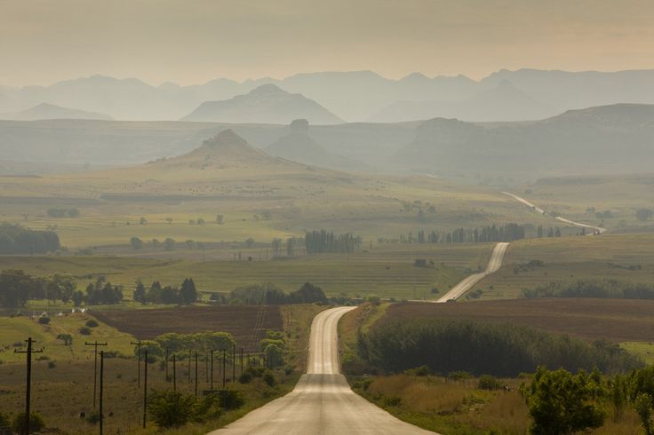 Road to Clarens - Beautiful place in the Orange Free State Province - South Africa. #Clarens #FreeState