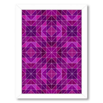 Americanflat 'Purple Symbol Style' by Wonderful Dream Framed Graphic Art Size: