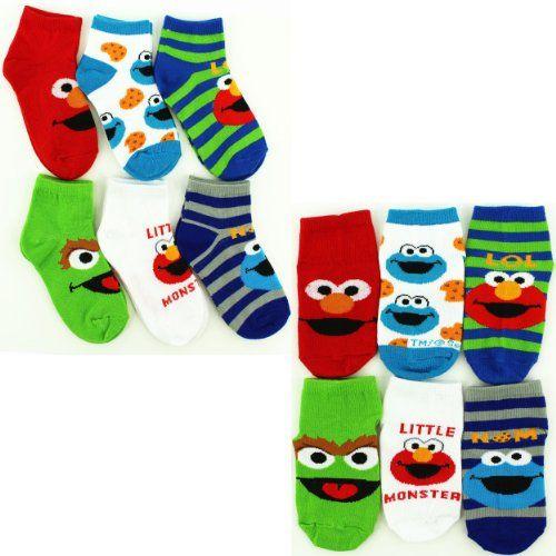 Sesame Street Toys For Toddlers : Sesame street infant toddler pk ankle socks m