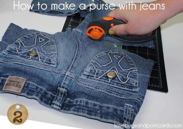 DIY: How to make a purse with jeans tutorial
