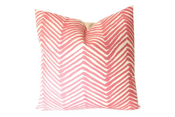 Alan Campbell Pink Zig Zig Pillow Cover by ThePillowStudioShop
