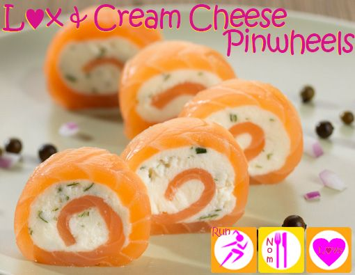 Lox (smoked salmon) & Cream cheese pinwheels - keto & primal friendly appetizers