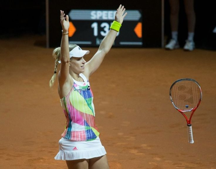 4/24/16 Angie's Championship Moment... Via WTA_insider  ·    With her 64 60 win over Laura Siegemund, Angelique Kerber successfully defends a title for the 1st time in her career.