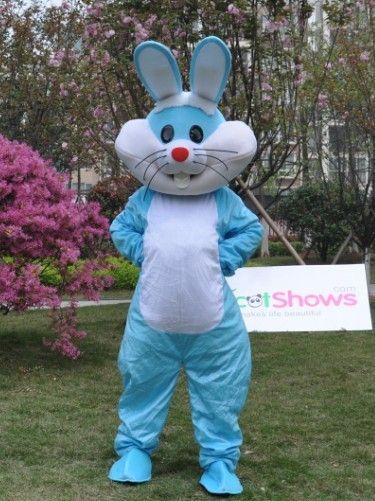 イースター・バニー ブルー ウサギ着ぐるみ 手作り着ぐるみ通販