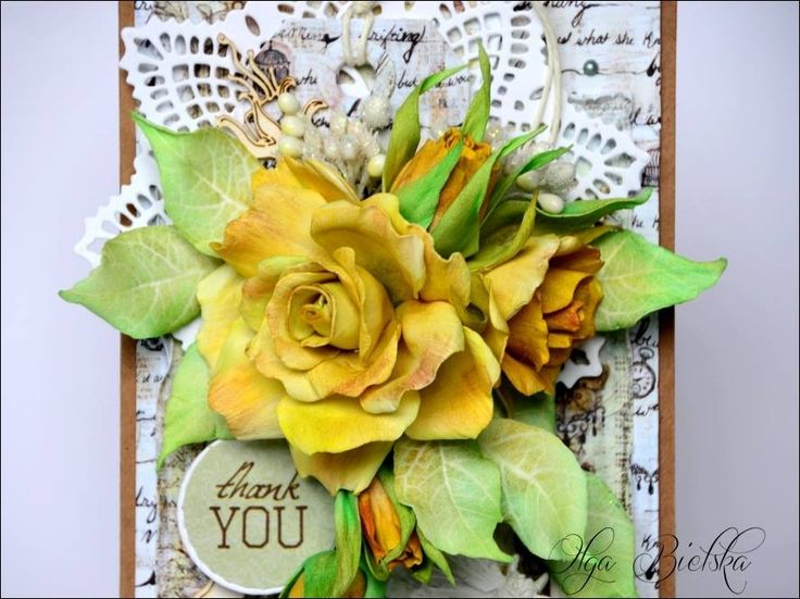 Róże z foamiranu irańskiego.