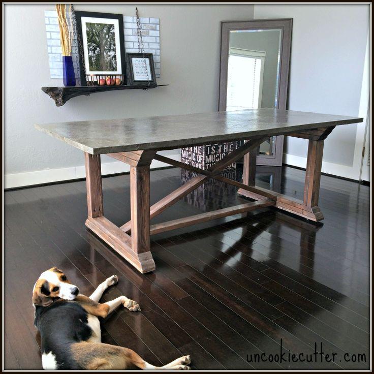 Industrial farmhouse table DIY tutorial